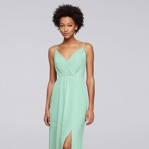 Long mint beaded dress